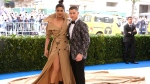 FILE - In this May 1, 2017 file photo, Priyanka Chopra, left, and Nick Jonas attend The Metropolitan Museum of Art's Costume Institute benefit gala. (Photo by Charles Sykes/Invision/AP, File)