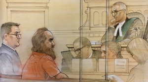 Micahel Colastosti is seen in this court sketch. (John Mantha/ CTV News Toronto)