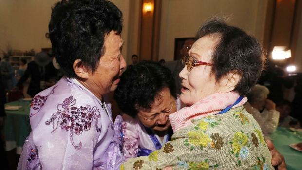 Nervous Korean families wait to be reunited
