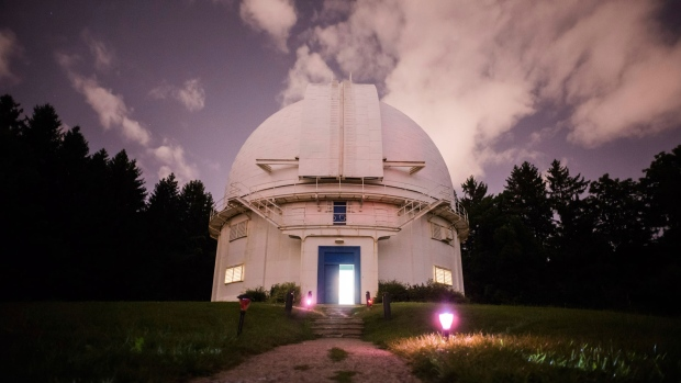 The Dunlap Observatory in Richmond Hill, Ont., is photographed on Saturday, August, 18, 2018. THE CANADIAN PRESS/Christopher Katsarov