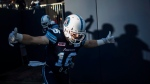 Toronto Argonauts' Brian Jones takes the field against the Montreal Alouettes for CFL pre-season football action in Toronto, Thursday June 8, 2017. THE CANADIAN PRESS/Mark Blinch