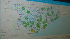 TRCA water levels map