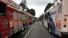 Crews respond to six-alarm fire