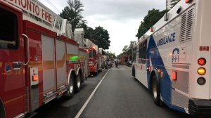 Twenty-six trucks and a hundred firefighters responded to the six-alarm fire on Parliament Street, on Tuesday, Aug. 21, 2018.