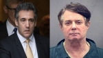 Michael Cohen (Left) and Paul Manafort are seen in this combination image. (AP)