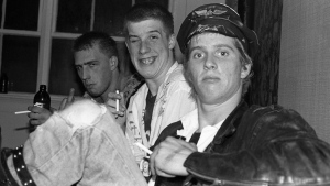 Joe Keithley, left to right, Chuck Biscuits, Randy Rampage pose backstage at O'Hara's in Vancouver in 1979 in this handout photo. Veterans of Vancouver's music scene are expected to attend a memorial on Sept. 29 for punk pioneer Randall Desmond Archibald, known to hardcore rockers as Randy Rampage. THE CANADIAN PRESS/HO - Bev Davies