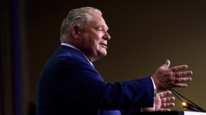 Ontario Premier Doug Ford speaks at the Association of Municipalities of Ontario in Ottawa on Monday, Aug. 20, 2018. Justin Tang/The Canadian Press