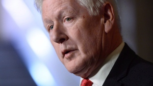 Bob Rae holds a press conference in the foyer of the House of Commons on Parliament Hill in Ottawa on Monday, October 23, 2017. THE CANADIAN PRESS/Sean Kilpatrick