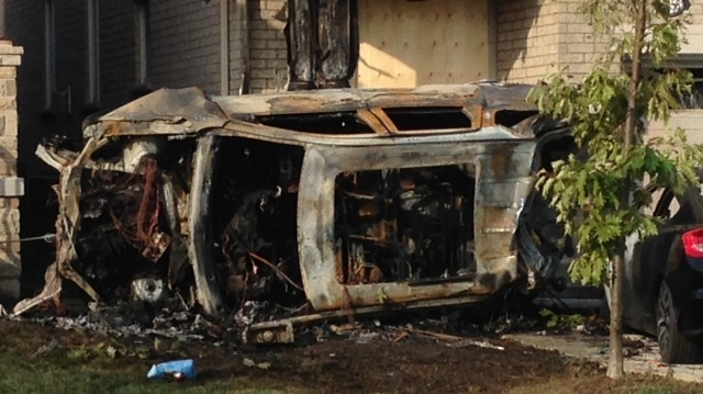 Three hospitalized after vehicle crashes into Brampton home | CP24 com