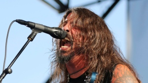 Dave Grohl of the Foo Fighters performs at the Cal Jam 18 Pop-Up Event at the Hollywood Palladium on Sunday, Aug. 26, 2018, in Los Angeles. THE CANADIAN PRESS/AP/Photo by Willy Sanjuan/Invision/AP
