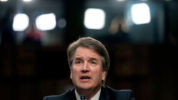 Parkland victim's father approaches SC nominee Brett Kavanaugh