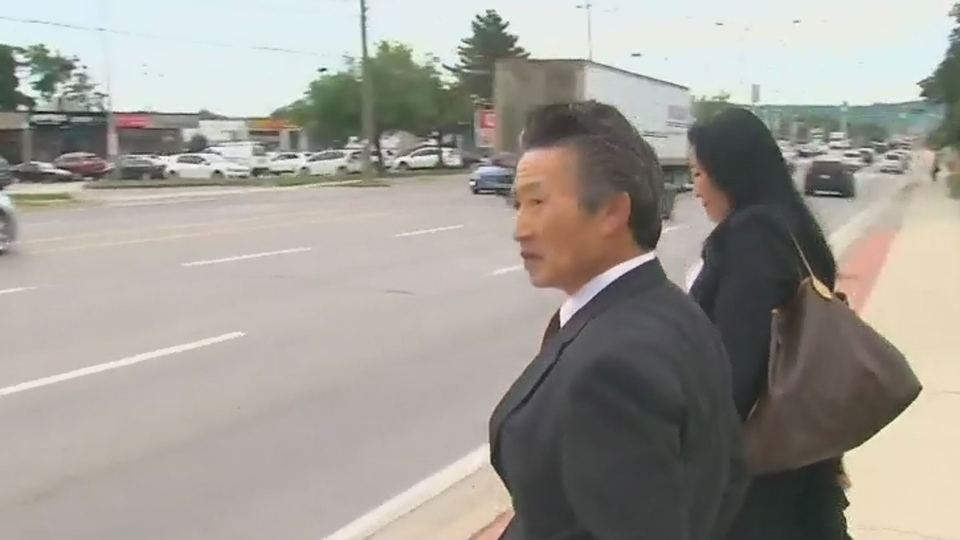 Jun-Chul Chung leaves court with his lawyer following his sentencing on Tuesday September 4, 2018.