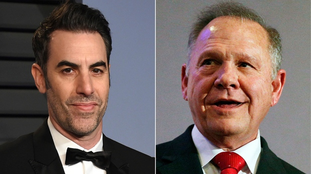 Roy Moore Suing Sacha Baron Cohen for Defamation
