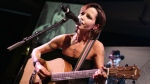 In this Sunday, Jan. 27, 2008 file photo, Cranberries lead singer Dolores O'Riordan performs during the European Border Breakers awards, or EBBA awards, in Cannes, southern France. A coroner said Thursday Sept. 6, 2018, that The Cranberries singer Dolores O'Riordan died accidentally from drowning due to alcohol intoxication. (AP Photo/Bruno Bebert, File)