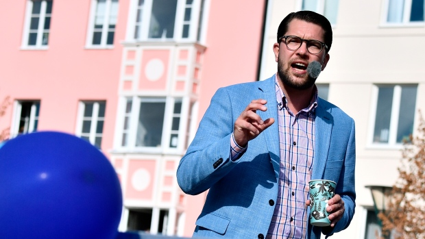 Swedish PM calls far-right party racist on election eve