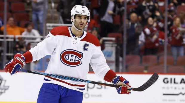 494449d5d FILE - In this Thursday, Feb. 15, 2018, file photo, Montreal Canadiens left  wing Max Pacioretty (67) pauses on the ice during the second period of an  NHL ...