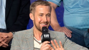 "Actor Ryan Gosling attends a press conference to promote the movie ""First Man"" during the 2018 Toronto International Film Festival in Toronto on Tuesday, September 11, 2018. THE CANADIAN PRESS/Fred Thornhill"
