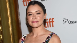 "Tatiana Maslany attends the premiere for ""Destroyer"" on day 5 of the Toronto International Film Festival at the Winter Garden Theatre on Monday, Sept. 10, 2018, in Toronto. (Photo by Evan Agostini/Invision/AP)"