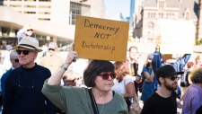 city hall protest