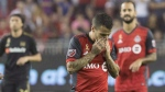 In welcoming the Los Angeles Galaxy to BMO Field on Saturday, Toronto FC is opening the door to a team almost as desperate as it is. Toronto FC forward Sebastian Giovinco (10) reacts during his team's 4-2 defeat to Los Angeles FC in MLS action in Toronto on Saturday September 1, 2018. THE CANADIAN PRESS/Chris Young
