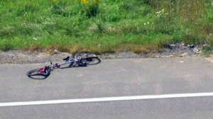 The scene of a fatal crash involving a cyclist in Newmarket is seen from Chopper 24.