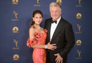 Alec Baldwin, right, and Hilaria Baldwin arrive at the 70th Primetime Emmy Awards on Monday, Sept. 17, 2018, at the Microsoft Theater in Los Angeles. (Photo by Richard Shotwell/Invision/AP)