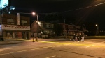 One male was injured in a shooting near Keele Street and Eglinton Avenue. (Mike Nguyen/ CP24)