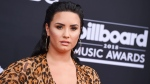 In this May 20, 2018, file photo, Demi Lovato arrives at the Billboard Music Awards at the MGM Grand Garden Arena in Las Vegas. (Photo by Jordan Strauss/Invision/AP, File)