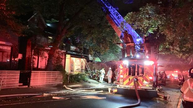 Baldwin Street fire