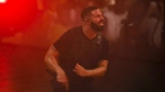 "Drake performs during the ""Aubrey & The Three Amigos Tour"" in Toronto, Tuesday August 21, 2018. Toronto rapper Drake says he was forced to pull out of two concerts in Miami, Fla., because he was sick. THE CANADIAN PRESS/Mark Blinch"