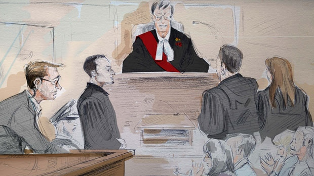 The courtroom for the murder trial of Wayne Millard is shown. (Alexandra Newbould)