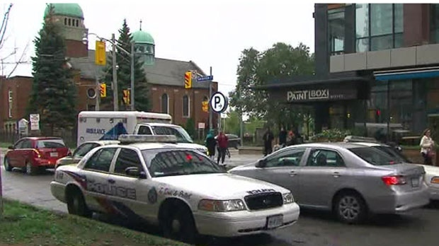 Police are investigating a shooting at an apartment building in Regent Park.