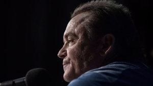 Toronto Blue Jays Manager John Gibbons attends a press conference in Toronto on Wednesday, September 26, 2018. The Blue Jays announced that Gibbons will be leaving his position at the end of the season. THE CANADIAN PRESS/Chris Young