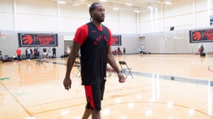 Kawhi Leonard of the Toronto Raptors is seen during a team practice in Burnaby, B.C., Tuesday, Sept, 25. 2018. THE CANADIAN PRESS Jonathan Hayward