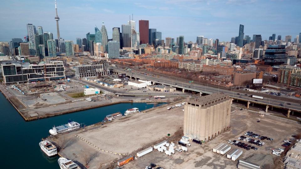 This undated photo provided by Sidewalk Toronto shows the eastern waterfront of Toronto, Canada.  (Sidewalk Toronto via AP)