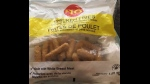 "The Canadian Food Inspection Agency is advising the public that Loblaw Companies Limited is recalling certain $10 Chicken Fries from the marketplace due to possible Salmonella contamination. An example of ""chicken fries"" in a 1.81kg bag is seen in an undated handout photo. THE CANADIAN PRESS/HO-CFIA"