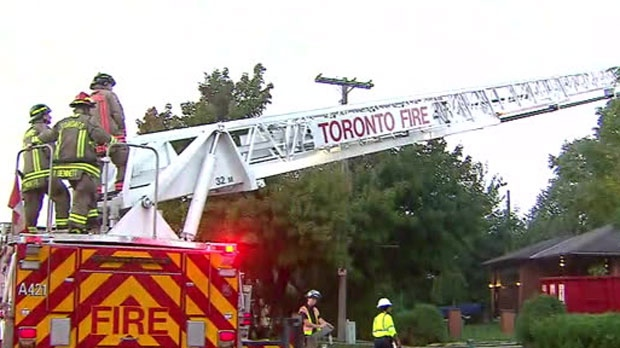 Firefighters were called to the scene of a house fire in Etobicoke on Tuesday morning.