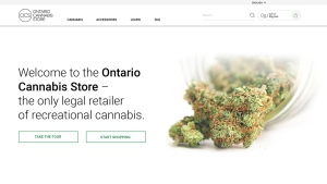 A still image from the Ontario Cannabis Store website is pictured. (Handout)