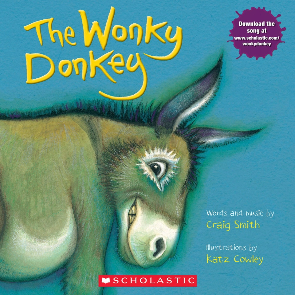 "This cover image released by Scholastic shows ""The Wonky Donkey"" by Craig Smith and illustrated by Katz Cowly. The 2009 picture story has been out-selling Bob Woodward's ""Fear"" and Rachel Hollis' ""Girl, Wash Your Face"" among others, thanks to a viral video of Scottish grandmother Janice Clark reading Craig Smith's ""The Wonky Donkey"" to her grandson. (Scholastic via AP)"