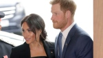 FILE - In this file photo dated Tuesday, Sept. 4, 2018, in his capacity as patron of the charity WellChild, Britain's Prince Harry and his wife Meghan, the Duchess of Sussex arrive for the annual WellChild awards in London. Kensington Palace announced Monday Oct. 15, 2018, that Prince Harry and his wife the Duchess of Sussex are expecting a child in spring 2019. (AP Photo/Matt Dunham, FILE)