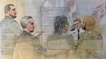 Sgt. Eduardo Miranda and Wassem Khan appear before a Toronto Police Disciplinary Tribunal at Toronto Police Headquarters Tuesday October 16, 2018. (John Mantha)