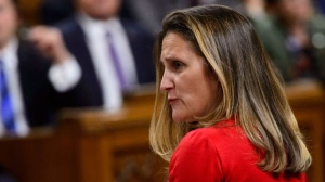 "Minister of Foreign Affairs Chrystia Freeland stands during question period in the House of Commons on Parliament Hill in Ottawa on Monday, Oct. 15, 2018. Freeland says she has ""very worrying"" questions about the disappearance of missing journalist Jamal Khashoggi. THE CANADIAN PRESS/Sean Kilpatrick"