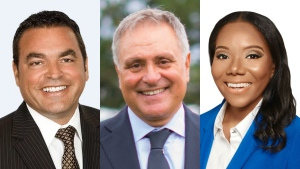 (From left to right): Coun. Giorgio Mammoliti, Coun. Anthony Perruzza, candidate Tiffany Ford.