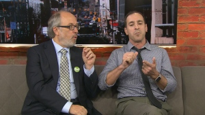 Ward 12 candidates Josh Matlow and Joe Mihevc speak with CP24 in a sit-down interview Thursday October 18, 2018.