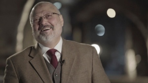 In this image made from a March 2018 video provided by Metafora Production, Jamal Khashoggi speaks during an interview at an undisclosed location.(Metafora Production via AP) (Metafora Production via AP)