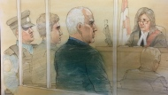 Accused serial killer Bruce McArthur makes a court appearance in Toronto Monday October 22, 2018. (John Mantha)