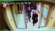 In this image taken from CCTV video that emerged Monday Oct. 22, 2018, purportedly showing Saudi writer Jamal Khashoggi and his fiancee, Hatice Cengiz, at an apartment building in Istanbul, Turkey, just hours before his death in the Saudi Arabian Consulate. The video was broadcast by the pro-Turkish government Turkish television channel A News, and was said to be obtained via Turkey's security sources. (A News via AP)