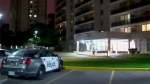 Toronto police are seen investigating the deadly assault of an infant girl.