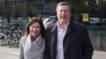 Toronto Mayor John Tory leaves a voting station with his wife Barbara Hackett after casting his ballot in the city's municipal election in Toronto on Monday October 22 , 2018. THE CANADIAN PRESS/Chris Young