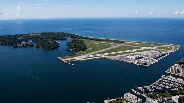 Billy Bishop Toronto City Airport is pictured on Friday, July 26, 2013. THE CANADIAN PRESS/Michelle Siu